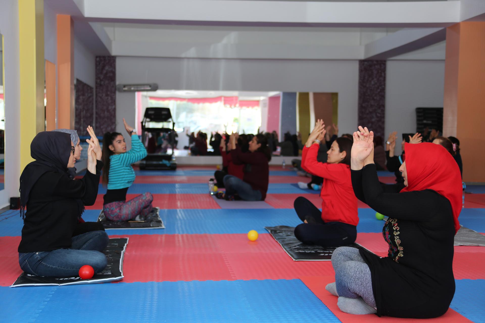 Belediye Kadın Spor Merkezi'ne yoğun ilgi